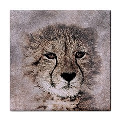 Leopard Art Abstract Vintage Baby Tile Coasters