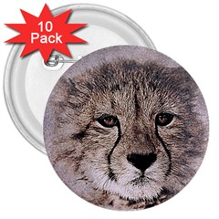 Leopard Art Abstract Vintage Baby 3  Buttons (10 Pack)