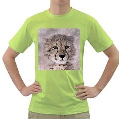 Leopard Art Abstract Vintage Baby Green T Shirt