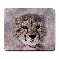Leopard Art Abstract Vintage Baby Large Mousepads