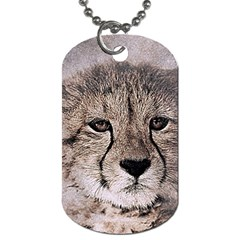 Leopard Art Abstract Vintage Baby Dog Tag (one Side)
