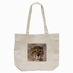 Leopard Art Abstract Vintage Baby Tote Bag (cream)