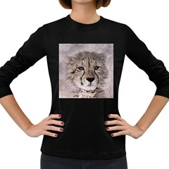 Leopard Art Abstract Vintage Baby Women s Long Sleeve Dark T Shirts