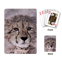 Leopard Art Abstract Vintage Baby Playing Card