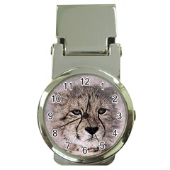 Leopard Art Abstract Vintage Baby Money Clip Watches