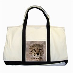Leopard Art Abstract Vintage Baby Two Tone Tote Bag
