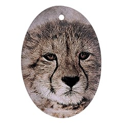 Leopard Art Abstract Vintage Baby Oval Ornament (two Sides)