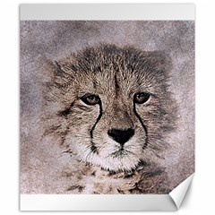 Leopard Art Abstract Vintage Baby Canvas 20  X 24