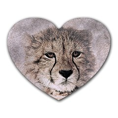 Leopard Art Abstract Vintage Baby Heart Mousepads