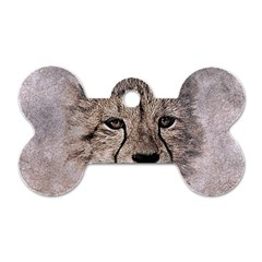 Leopard Art Abstract Vintage Baby Dog Tag Bone (two Sides)