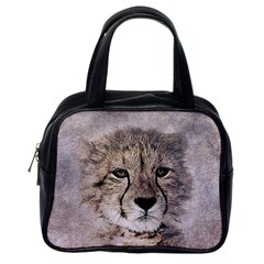 Leopard Art Abstract Vintage Baby Classic Handbags (one Side)