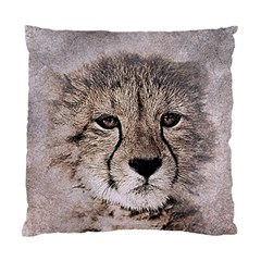 Leopard Art Abstract Vintage Baby Standard Cushion Case (two Sides)