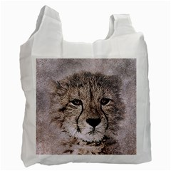 Leopard Art Abstract Vintage Baby Recycle Bag (two Side)