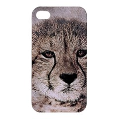 Leopard Art Abstract Vintage Baby Apple Iphone 4/4s Premium Hardshell Case