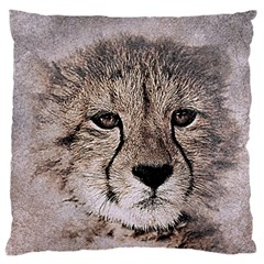 Leopard Art Abstract Vintage Baby Large Cushion Case (two Sides)