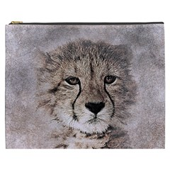 Leopard Art Abstract Vintage Baby Cosmetic Bag (xxxl)