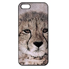 Leopard Art Abstract Vintage Baby Apple Iphone 5 Seamless Case (black)