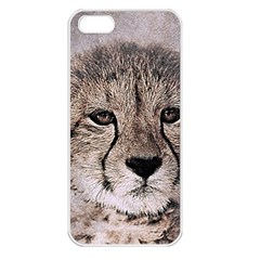 Leopard Art Abstract Vintage Baby Apple Iphone 5 Seamless Case (white)