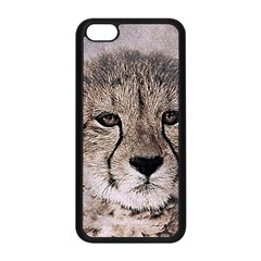 Leopard Art Abstract Vintage Baby Apple Iphone 5c Seamless Case (black)