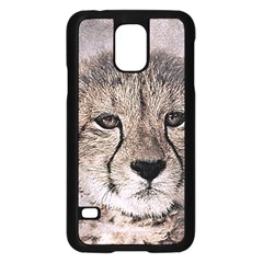 Leopard Art Abstract Vintage Baby Samsung Galaxy S5 Case (black)