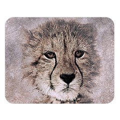 Leopard Art Abstract Vintage Baby Double Sided Flano Blanket (large)