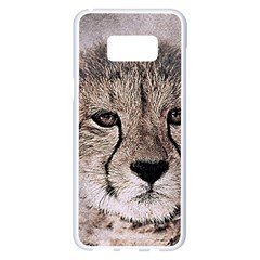 Leopard Art Abstract Vintage Baby Samsung Galaxy S8 Plus White Seamless Case