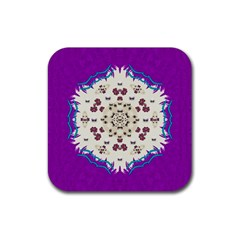Eyes Looking For The Finest In Life As Calm Love Rubber Coaster (square)