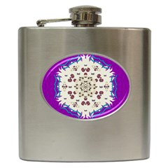 Eyes Looking For The Finest In Life As Calm Love Hip Flask (6 Oz)