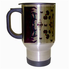 Eyes Looking For The Finest In Life As Calm Love Travel Mug (silver Gray)