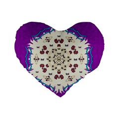 Eyes Looking For The Finest In Life As Calm Love Standard 16  Premium Heart Shape Cushions