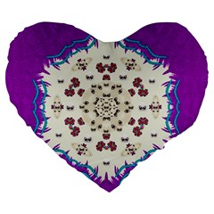 Eyes Looking For The Finest In Life As Calm Love Large 19  Premium Flano Heart Shape Cushions
