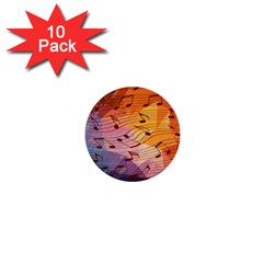 Music Notes 1  Mini Buttons (10 Pack)