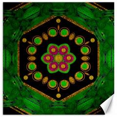 Magic Of Life A Orchid Mandala So Bright Canvas 16  X 16