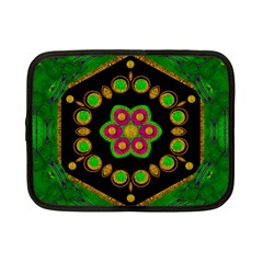 Magic Of Life A Orchid Mandala So Bright Netbook Case (small)