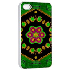 Magic Of Life A Orchid Mandala So Bright Apple Iphone 4/4s Seamless Case (white)