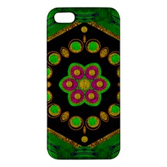 Magic Of Life A Orchid Mandala So Bright Apple Iphone 5 Premium Hardshell Case