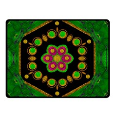 Magic Of Life A Orchid Mandala So Bright Double Sided Fleece Blanket (small)