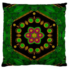 Magic Of Life A Orchid Mandala So Bright Standard Flano Cushion Case (two Sides)