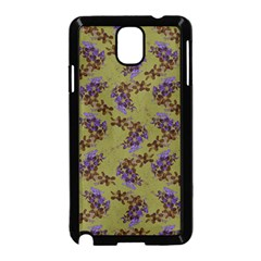 Green Purple And Orange Pear Blossoms  Samsung Galaxy Note 3 Neo Hardshell Case (black)