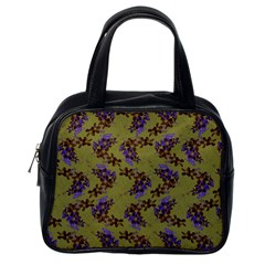 Green Purple And Orange Pear Blossoms  Classic Handbags (one Side)