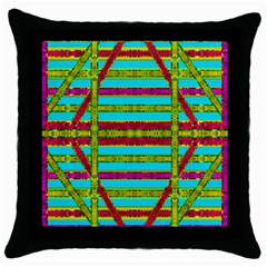 Gift Wrappers For Body And Soul Throw Pillow Case (black)