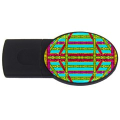 Gift Wrappers For Body And Soul Usb Flash Drive Oval (2 Gb)
