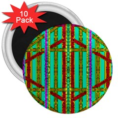 Gift Wrappers For Body And Soul In  A Rainbow Mind 3  Magnets (10 Pack)