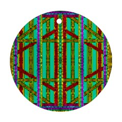 Gift Wrappers For Body And Soul In  A Rainbow Mind Round Ornament (two Sides)