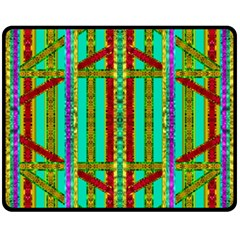 Gift Wrappers For Body And Soul In  A Rainbow Mind Fleece Blanket (medium)