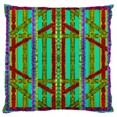 Gift Wrappers For Body And Soul In  A Rainbow Mind Large Cushion Case (two Sides)