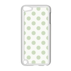 Green Dots Modern Pattern Paper Apple Ipod Touch 5 Case (white)