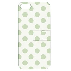 Green Dots Modern Pattern Paper Apple Iphone 5 Hardshell Case With Stand