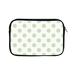 Green Dots Modern Pattern Paper Apple Ipad Mini Zipper Cases