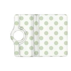 Green Dots Modern Pattern Paper Kindle Fire Hd (2013) Flip 360 Case
